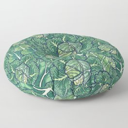 dreaming cabbages Floor Pillow