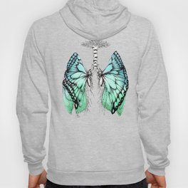 Butterfly Lungs Blue Green Hoody