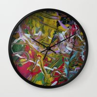hip hop Wall Clocks featuring HIP HOP MUSIC  DESIGN... by T.H. DESIGNZZ