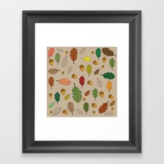 Oak pattern Framed Art Print