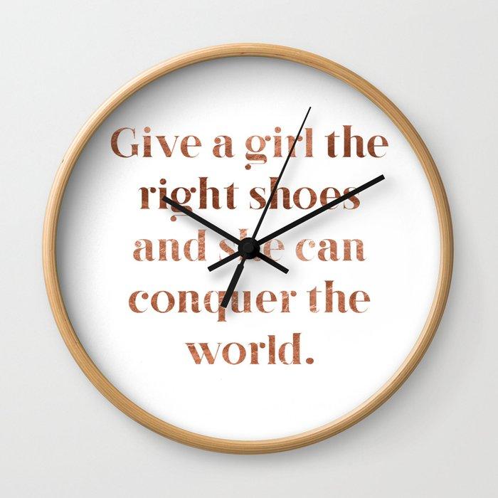 Rose gold shoe love Wall Clock