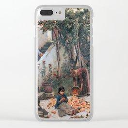 John William Waterhouse - The orange gatherers Clear iPhone Case