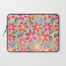 Cute Lilies and Leaves Laptop Sleeve