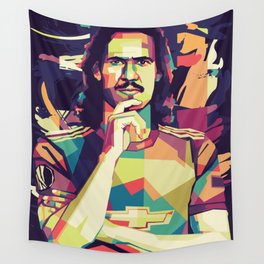 Cavani is Red Wall Tapestry