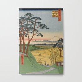 Grandpa's Teahouse Meguro Vintage Ukiyo-e Japanese Art Metal Print
