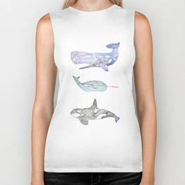 Whale Social Biker Tank