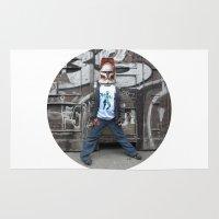 starwars Area & Throw Rugs featuring StarWars Kid 1 Collage by Marko Köppe