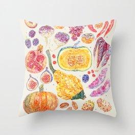 Autumn Harvest - Neutral Throw Pillow
