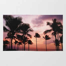 Palm Tree Sunset Rug