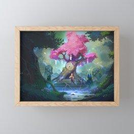 artwork digital fantasy architecture fictional character forest landscape Framed Mini Art Print