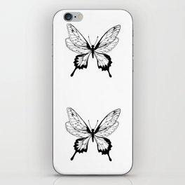 Butterfly Black Pattern iPhone Skin