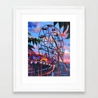 ferris wheel Framed Art Prints featuring Ferris Wheel by Juliette Caron