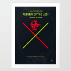 No156 My Star E-VI minimal movie poster Wars Art Print