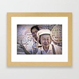 Two Street Cooks. Framed Art Print