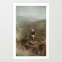 Lonely Cowboy Art Print