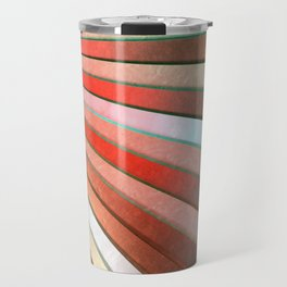 Chromatic Fan - Copper, Red and Turquoise Travel Mug