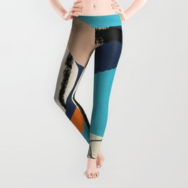 abstract collage Leggings