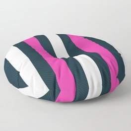 Modern Decorative Pink White Vertical Pattern Stripes Floor Pillow