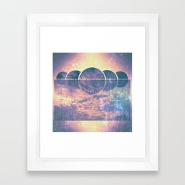 sun set Framed Art Print