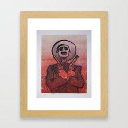 Dia de los Muertos - Gunslinger  Framed Art Print