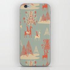 Reindeer, Trees and Elves iPhone & iPod Skin