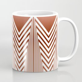 Art Deco Geometric Arrowhead Dusty Peach Design Coffee Mug