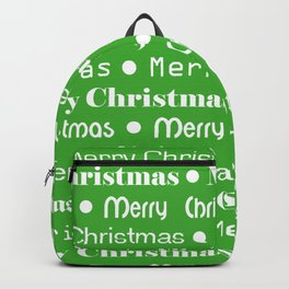 Merry Christmas Type Backpack