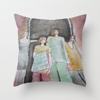 war Throw Pillows featuring  war  by helendeer