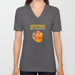 disability awareness acceptance Unisex V-Neck
