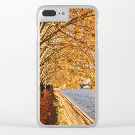 Autumn walk in France Clear iPhone Case