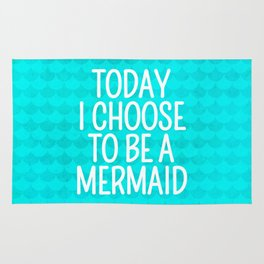 Today I Choose To Be a Mermaid - Scales Pattern Rug