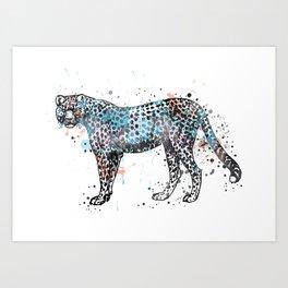 Cheetah, watercolor Cheetah Art Print