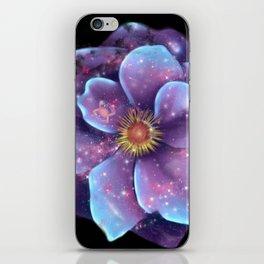 Galaxy in bloom iPhone Skin