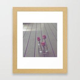 Simple Pink Roses Framed Art Print