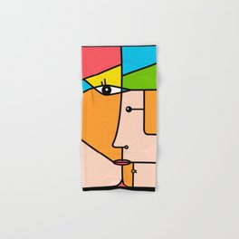 Rostros abstractos Hand & Bath Towel