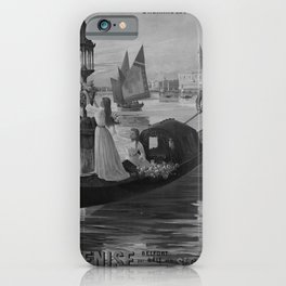 retro retro EST Venise poster iPhone Case