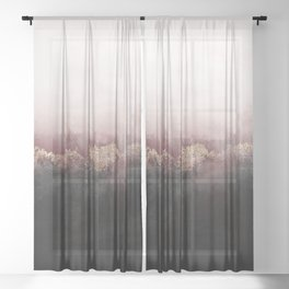 Pink Sky Sheer Curtain