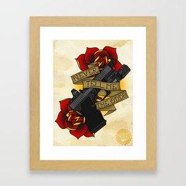 Modern Day Blaster Framed Art Print