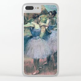 Edgar Degas - Dancers In Violet Clear iPhone Case