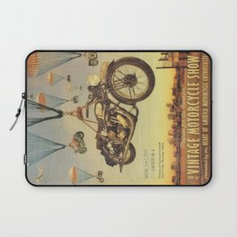Vintage Motorcycle Show Poster Laptop Sleeve