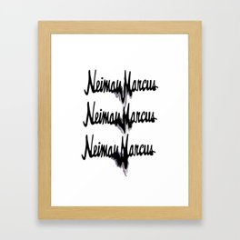 NM drips Framed Art Print