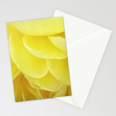 Petals in Yellow Stationery Cards