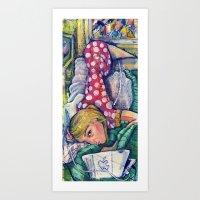 polka dot Art Prints featuring Polka Dot by Liz Haywood
