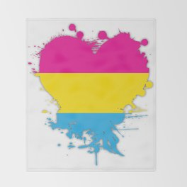 Pansexual Heart Throw Blanket