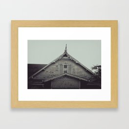 Sepia/Black and white Gingerbread Home Print, Historic Home Print, Colonial Home Photography, Trini Framed Art Print