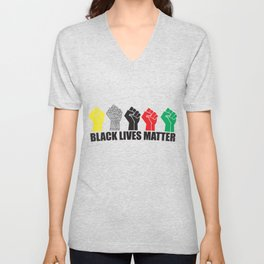 Black Lives Art Unisex V-Neck