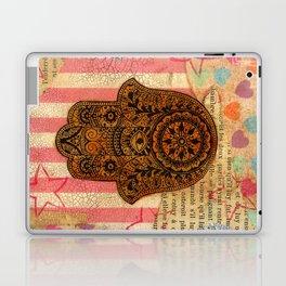 Hearts and Butterfly Hamsa Laptop & iPad Skin
