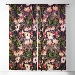 Magnolias and Hummingbirds Blackout Curtain