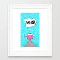 vagina Framed Art Prints featuring ...Vagina... by Daniel Belay