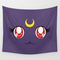 luna Wall Tapestries featuring Luna by Inu Store